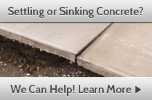 Settling or sinking concrete? We can help!